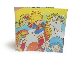 Rainbow Brite Wallet - Upcycled 80s vintage comic book page in PVC - Color Kids, Comic Wallet, Retro Cartoon, Starlite