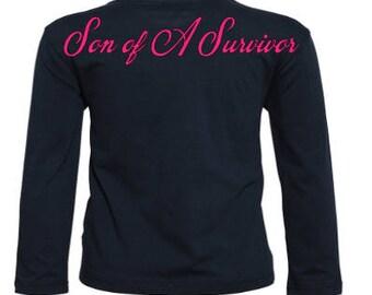 Son of a survivor Shirt / Survivor shirt / Son of a survivor / breast cancer shirt