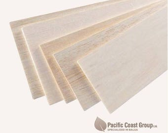 Balsa wood sheets 1000mm (1 meter Long) x 100mm wide - various thickness