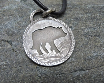Coyote Pendant, Sterling Silver Necklace, Coyote Talisman, Made in NH, Totem, Trickster, Adaptable, Cunning, Nature Jewelry, Coyote Medicine