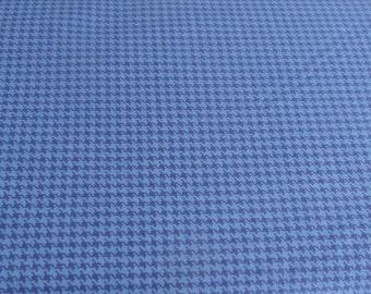 Freespirit Fabric - Design Essentials Houndstooth Check - Hot House Blue - One Yard