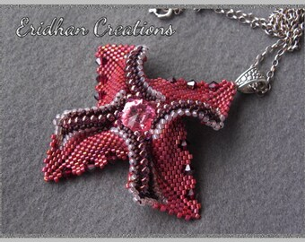 "Beaded pendant ""Windmill"" - tutorial"