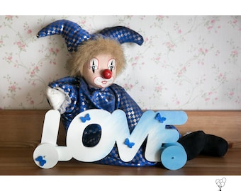 Wood Love Sign I Love You Sign Baby Shower Gift Nursery Kid Decor Sign Gift Idea Love Mothers day Gift Kid Room Decor Wooden Love sign