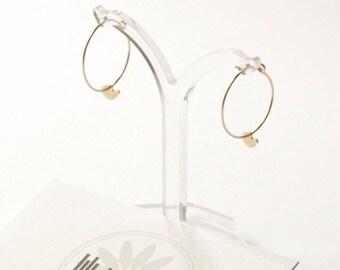 Gold Bird Earrings, woodland bird hoop earrings, nature hoop earrings, gold bird hoops etsy