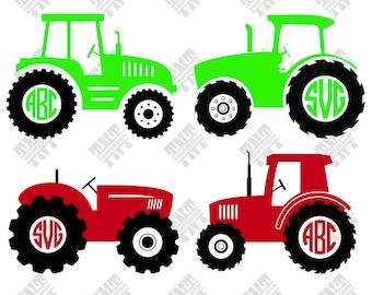 Tractor svg - Tractor monogram svg - Tractor monogram digital clipart for Print, Design or more, files download svg, png, dxf
