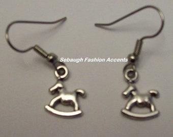Pewter Charm Earrings