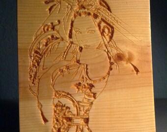 Samurai Geisha Panel