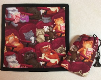 Pouch and Quilted Mat           Movie Cats