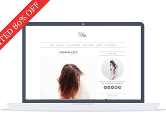 80% - Fixie - Wordpress Theme - Premade - Self Hosted - Wordpress Blog Theme - Responsive