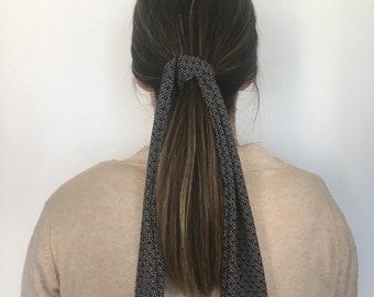 Black Flowers Hairscarf
