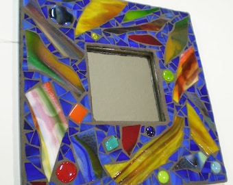 Contemporary Stained Glass Mosaic Mirror Wall Art