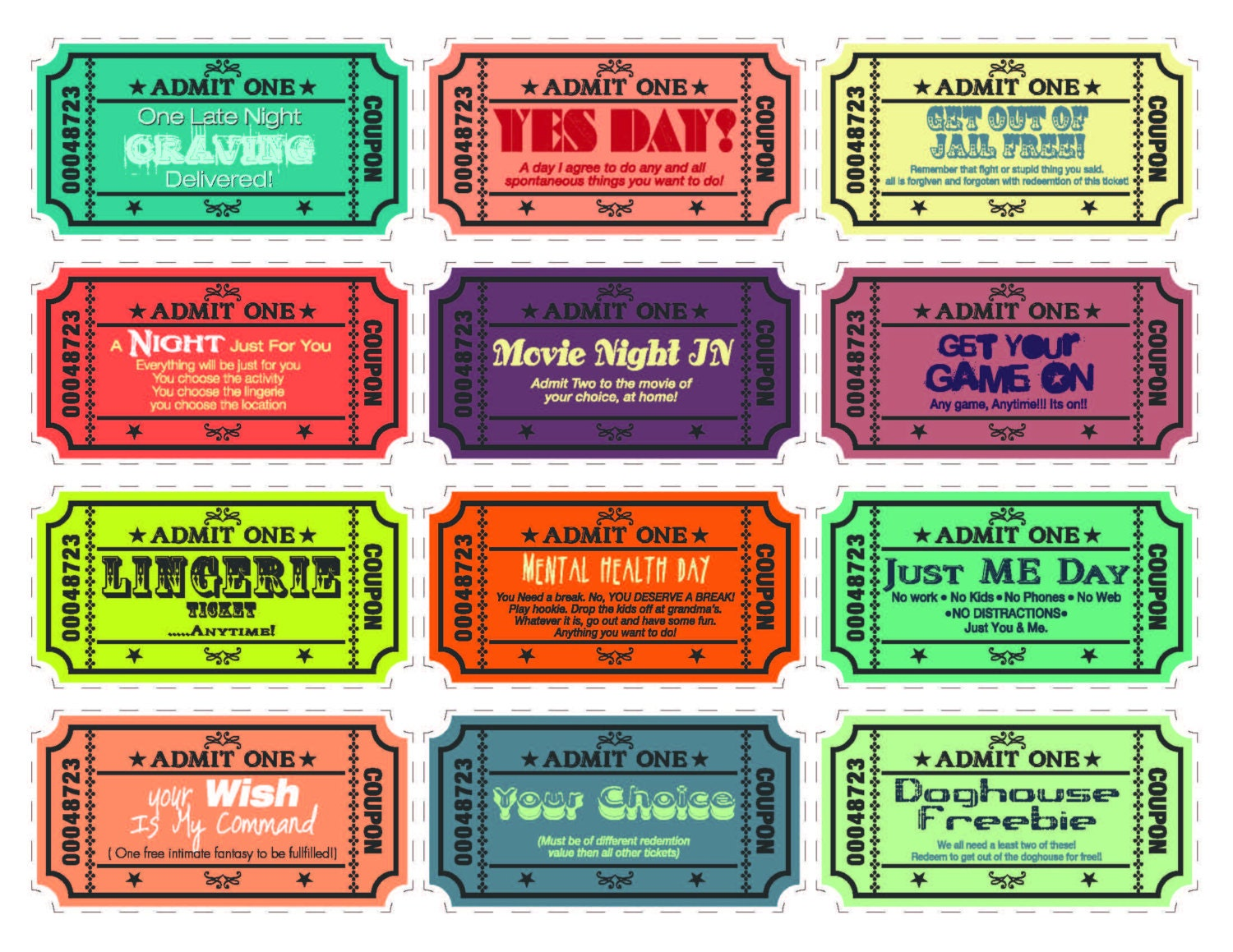 free printable love coupons for her - Goal.blockety.co