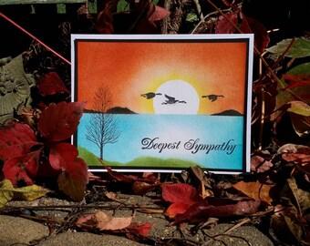 Sympathy Card,  Handmade Sympathy Card, Masculine Sympathy Card, Hand Painted Greeting Card