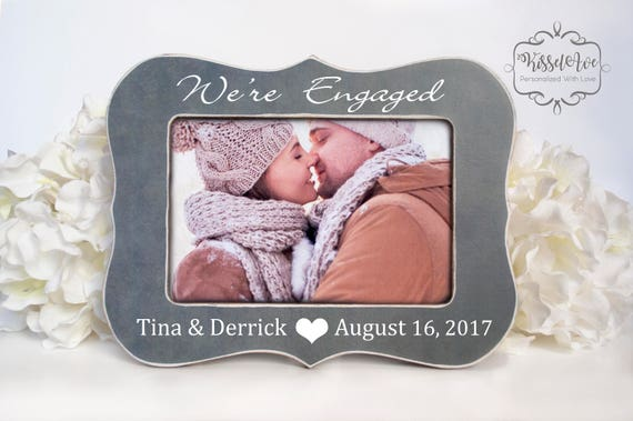 Engagement Gift Personalized Engagement Gift Engagement Picture ...
