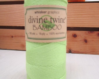 Bamboo Twine ~ Lime Green ~ Eco-Friendly ~ 18 ply ~ 15 yards