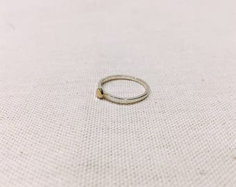 Yellow Gold and Sterling Silver Stacking Ring