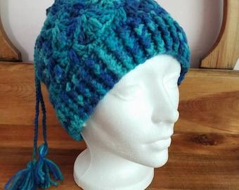 Convertible Crochet Messy Bun Hat