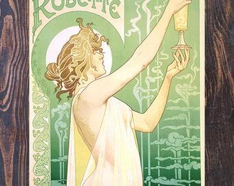 Absinthe Robette, Vintage Liquor Ad Giclee Art Print, fine Art Reproduction
