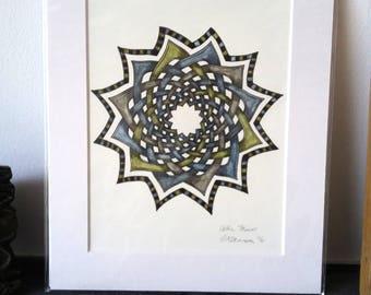 Keltische Blume - Original-Illustration