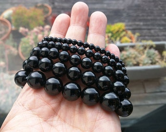 High Quality Black Tourmaline Bracelet-4,6,8,10,12,14,16mm-AAA Grade