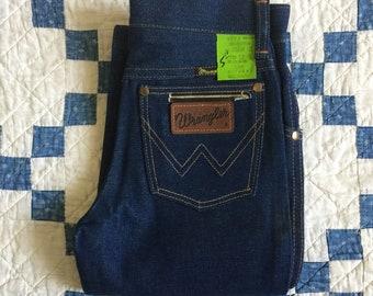Vintage 60s 70s deadstock kids Wrangler denim jeans - size 10