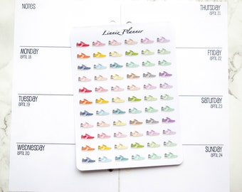 Mini Shoe Running Walking (matte planner stickers, perfect for planners)