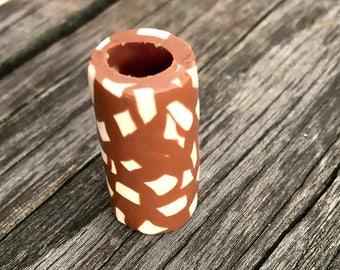 Dreadlock-Pearl Hole 7 mm handmade Dreadschmuck gingerbread-look Gingerbread-edition