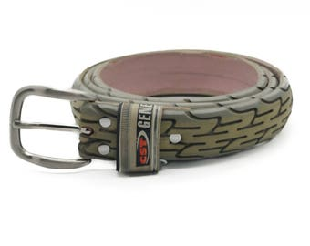 """Bicycle Tire Belt """"CST"""" (upcycled vegan handmade) by tirebelt.com - Fall Collection 2017"""
