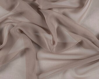 "54"" Wide 100% Silk Chiffon Bronze By the Yard (5012M178)"