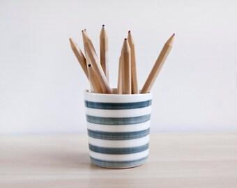 Ceramic pencil holder, Desk organizer pencil holder, Gifts for teachers, Ceramics & pottery, Desk accessories, Ceramics, Pencil box cup