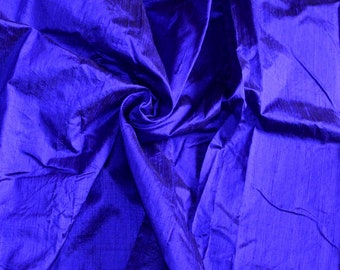Silk Dupioni in   Indigo - Fat Quarter D 335