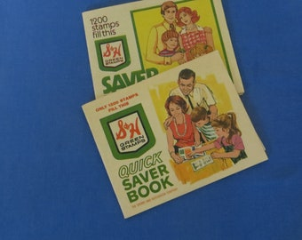 S & H Green Stamps Books with Stamps