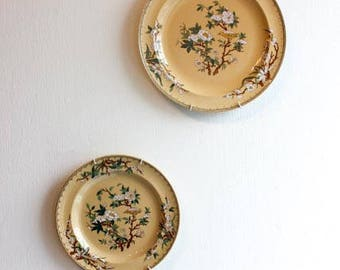 "Set of two Wedgewood ""Cuckoo A7282"" plates (includes one dinner plate and one bread and butter plate)"