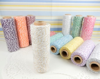 Bakers Twine, 91 metre Twine, Gift Wrapping, Coloured String, 2 Tone Twine, Wedding Decoration, Crafting Twine, Rustic Wedding