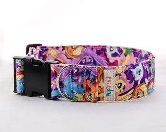 My Little Pony Dog Collar//My Little Pony Dog Collars//Girly Dog Collars//Dog Collars with My Little Pony//Xmas Collar//Gift Under 30