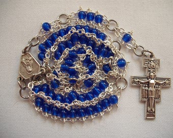 Cobalt Blue Mini-Ladder Rosary