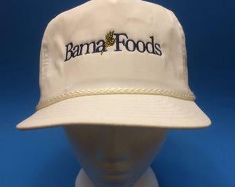 Vintage Bama Foods Trucker Snapback Hat 1980s 90s
