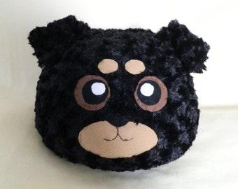 Cute Fluffy Rottweiler Pillow or Plush / Dog Pillow / Stuffed Rottweiler Puppy