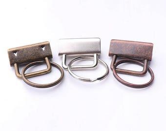 10set Key Fob Hardware with Key Rings Sets for making Ribbon/Fabric Key Fob Key Chains / Wristlets