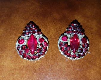 La Roco Faux Garnet Earrings