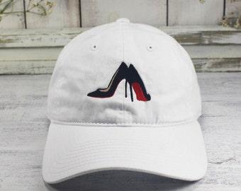 Designer Heels Stiletto Pumps Life of Luxury Dad Hat Embroidered Baseball Cap