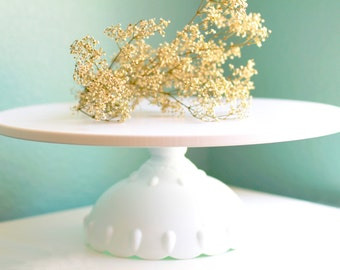 "Cake Stand / Wedding Cake Stand in 12"" 14"" 16"" 18"" / Scallop Cake Stand for your Custom Wedding Cake"