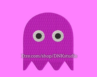 Pac-man Ghost Embroidery Design - 5 Sizes - INSTANT DOWNLOAD