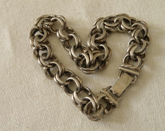 Strong and Smooth Sterling Silver Bracelet - 8 inch