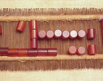 Bakelite Applejuice transluscent Catalin tubular barrel Pieces 25 pc