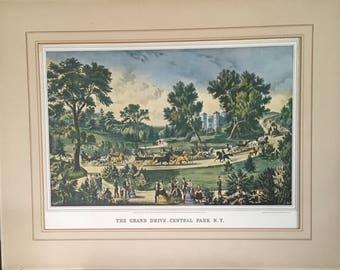 Vintage Central Park Print
