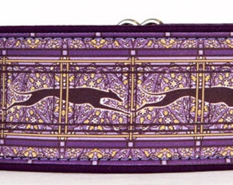 Jane Walkers Paisley Purple and Black Martingale Collar-