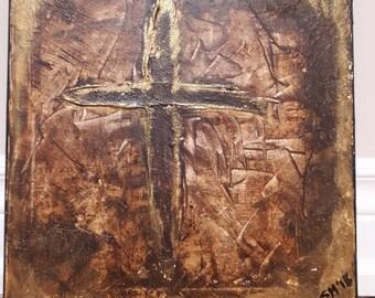 Saint John of the cross - Dark night of the soul - Original Acrylic Painting on canvas 12 x 12
