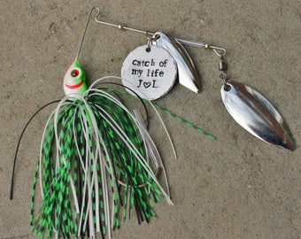 Fishing Gift, Custom Fishing Lure, Fisherman Gift, Gift for Groom, Gift from Bride, Catch Of My Life, Fishing Lure, Anniversary Gift