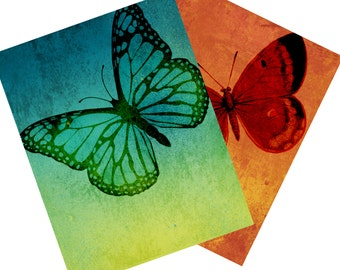 Ombre Style Butterfly Notecards Note Cards